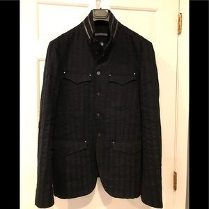 John Varvatos snap front jacket. Size EU 48 USA 38